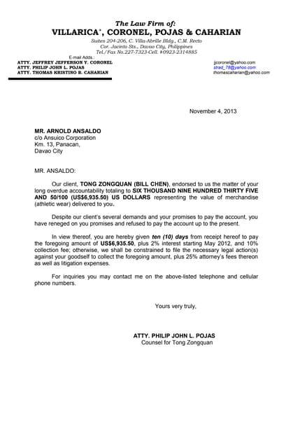 Example Of Demand Letter from cdn.slidesharecdn.com