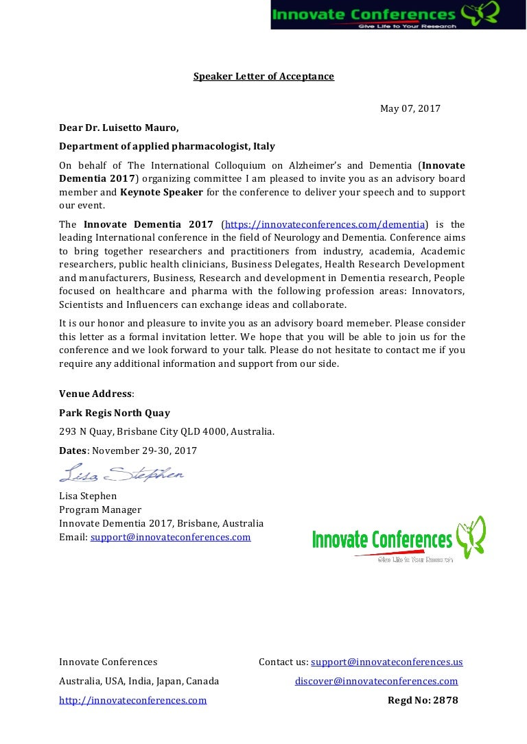 Dementia ocm letter of invitation innovate conference 2017 m luiset