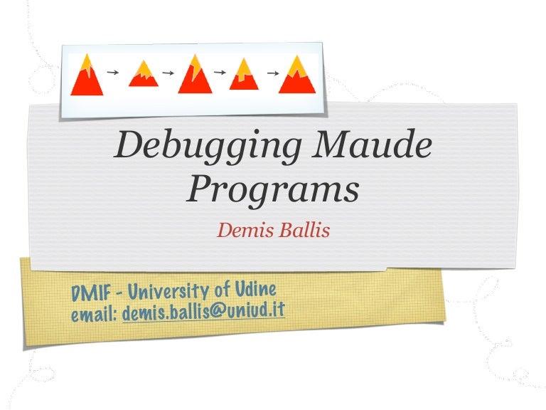 Debugging Maude programs