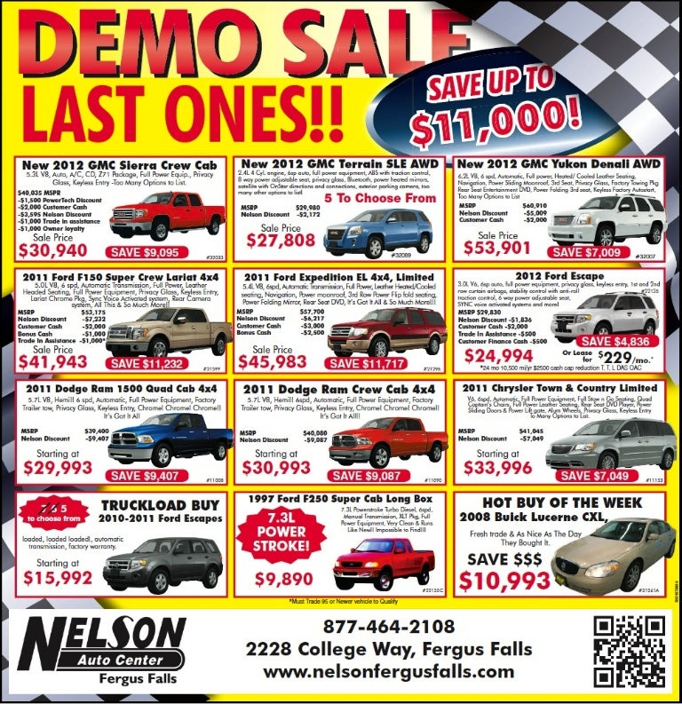 sc 1 st  SlideShare & Demo Cars Sale Special MN   GMC Dodge Ford Dealer near Fargo markmcfarlin.com