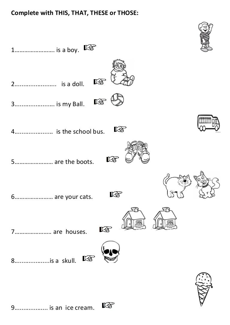 this these that those spanish In Demonstrative Adjectives Spanish Worksheet