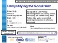 Demystifying the Social Web
