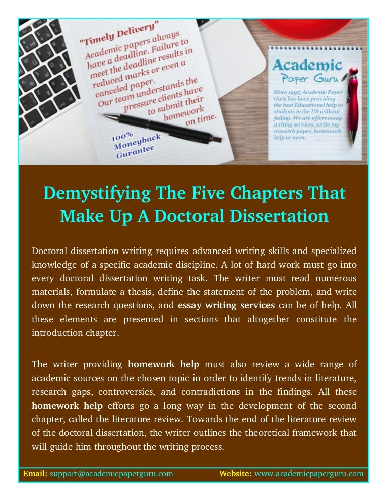 Demystifying the dissertation
