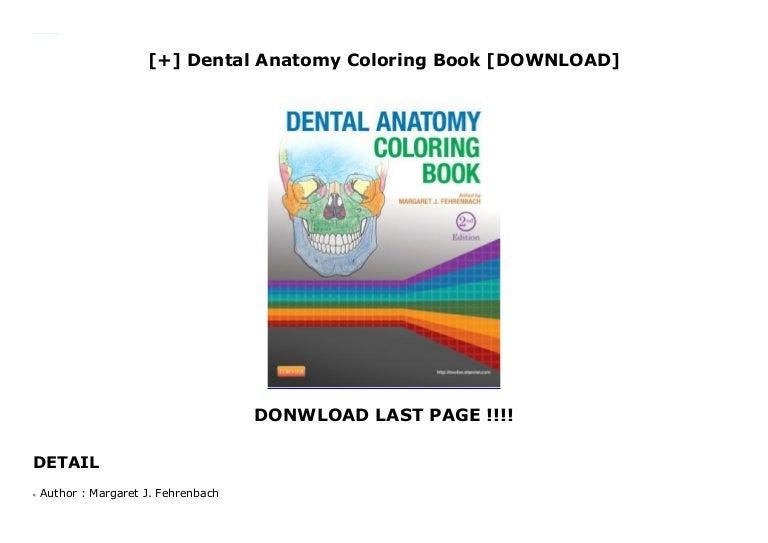 Dental Anatomy Coloring Book [DOWNLOAD]