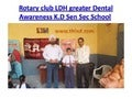 Dental Awareness seminar at K.J Sen Sec School