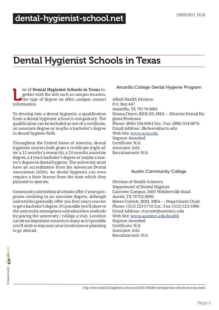 100 Dental Hygienist Resume Samples Cover Letter For