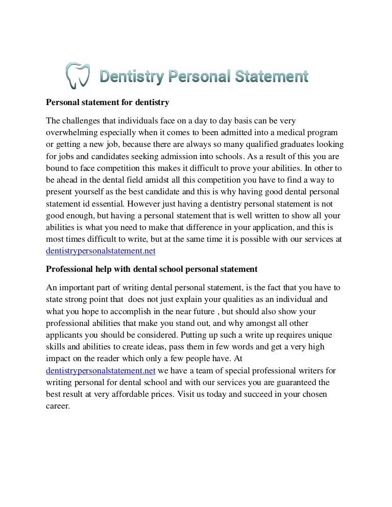 Essay dental school