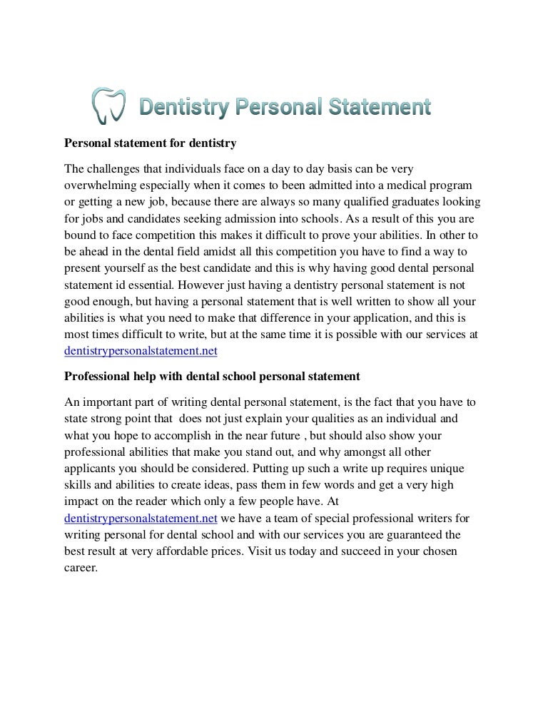 Dental School Personal Statement Samples  dentalschoolpss  on     Pinterest
