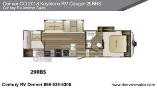Denver CO 2018 Keystone RV Cougar 29BHS