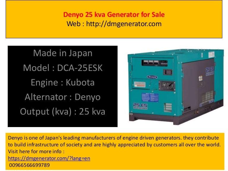 Denyo 25 Kva Generator For Sale