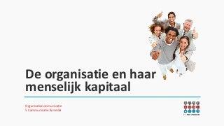 De organisatie en haar menselijk kapitaal