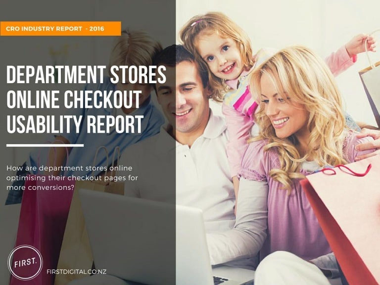 department stores online checkout usability report cro 2016