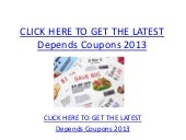 image regarding Depends Coupons Printable named Relies upon Discount coupons 2013 - Printable Is dependent Discount codes 2013