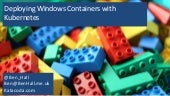 Deploying windows containers with kubernetes