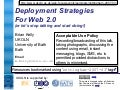 Deployment Strategies For Web 2.0