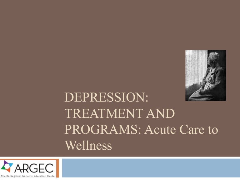 ARGEC Depression Treatment and Programs