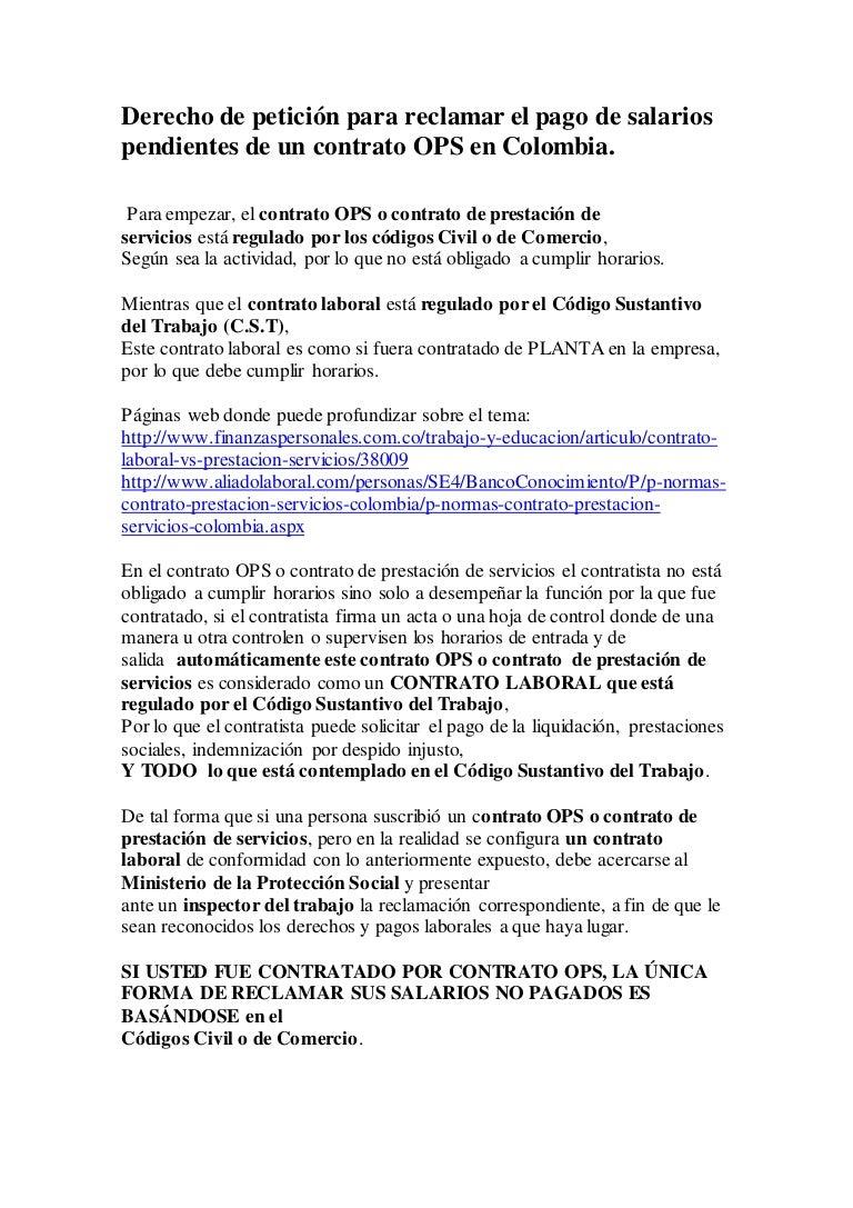 Derecho de petición para reclamar el pago de salarios pendientes de u…