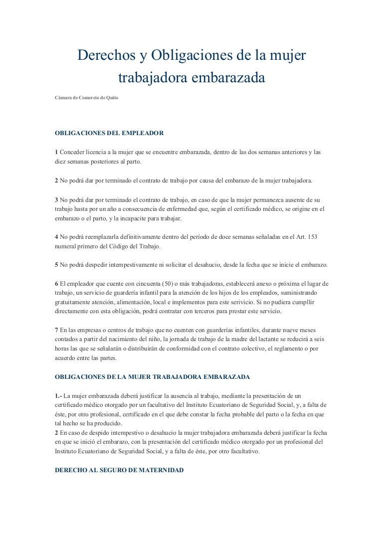 7f1aa2688 Derechos del trabajo para mujeres embarazadas