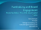 Fundraising and Board Engagement - September 15, 2016