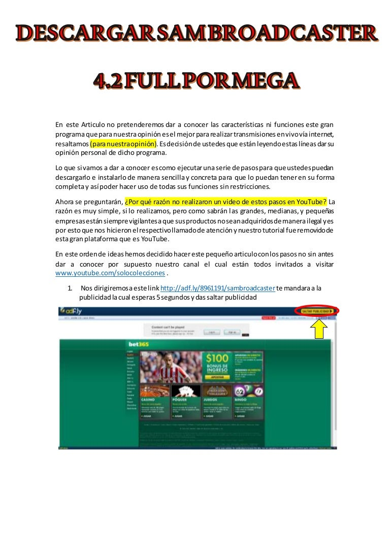 sam broadcaster full descargar