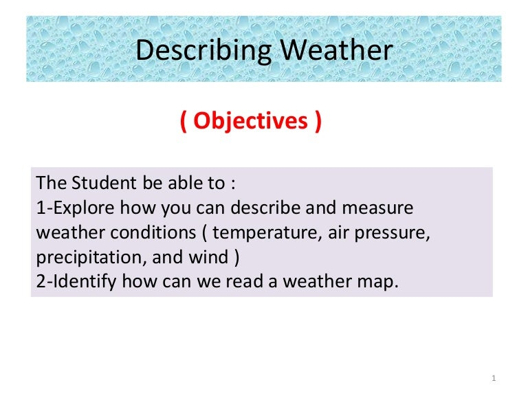 describing weather g3