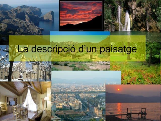 Descripció paisatges