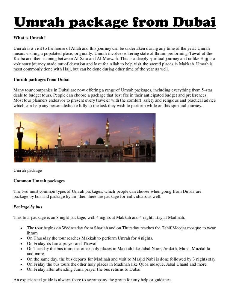 Umrah Banner: Umrah Package From Dubai