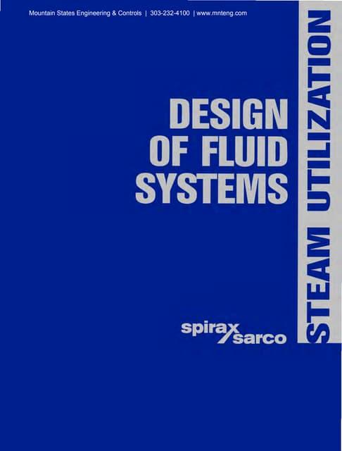 Design of Fluid Systems - Steam Utilization