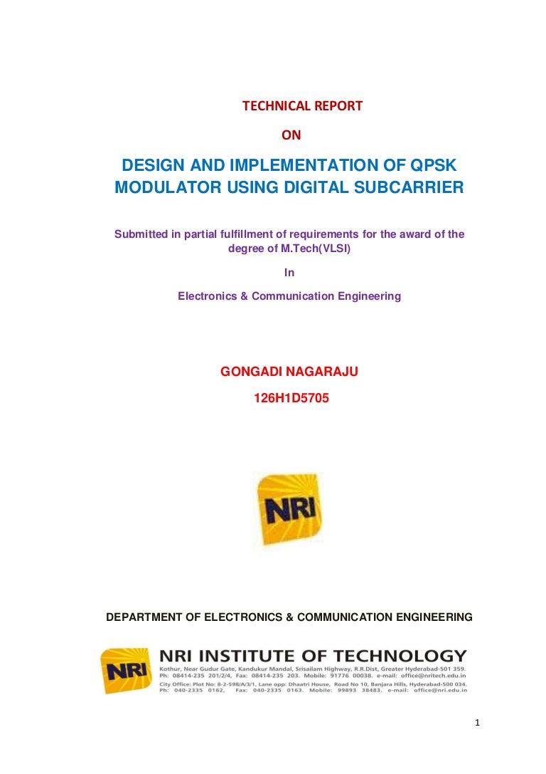 Design And Implementation Of Qpsk Modulator Using Digital Subcarrier Radio Control Link Ask Amplitude Shift Keying Modulation