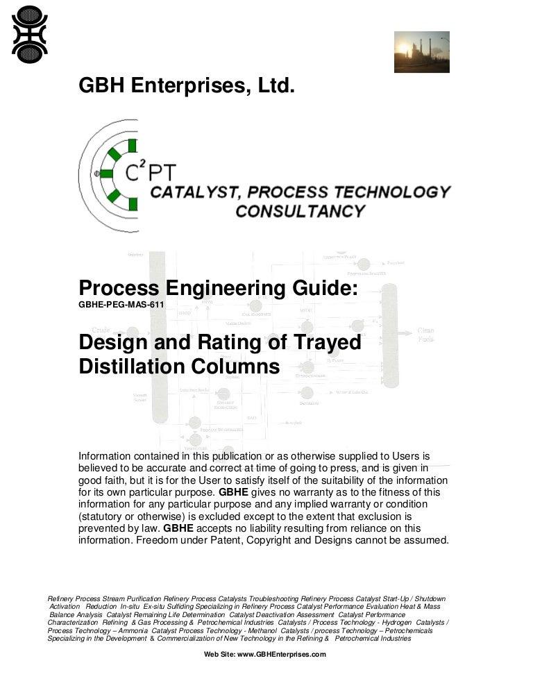 design and rating of trayed distillation columns rh slideshare net float valve tray design manual Sieve Tray