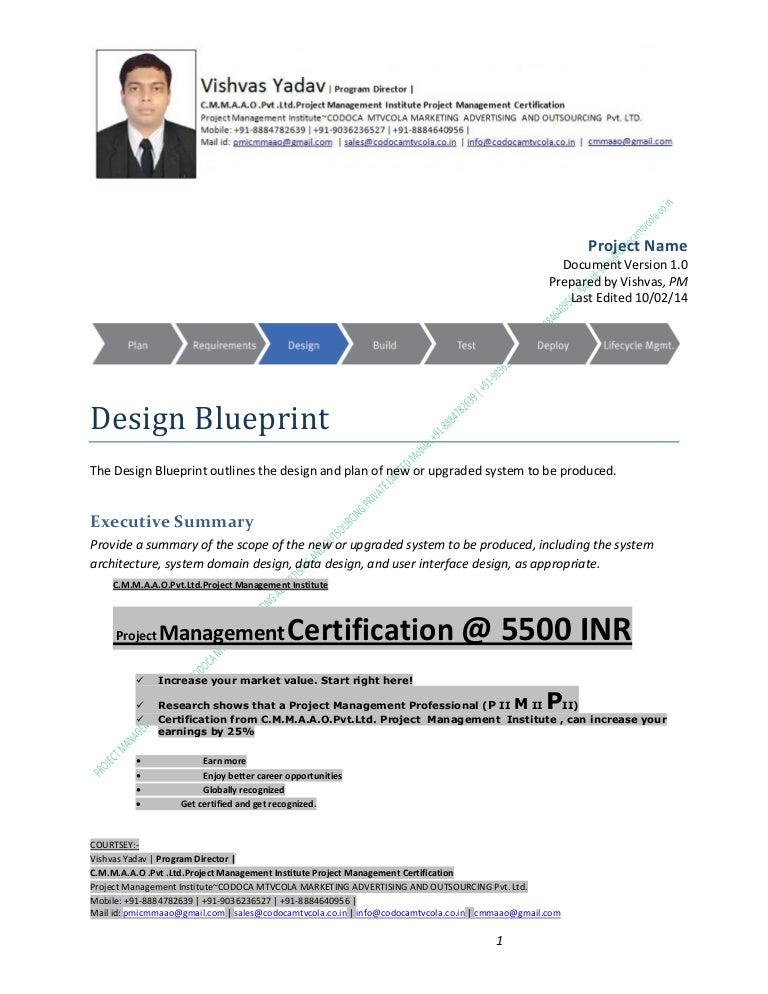 Design Blueprint V1b Cmmaao Pmi Pmp