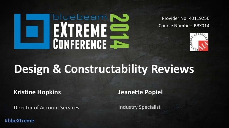 Design constructability reviews - Bluebeam eXtreme