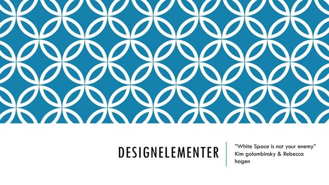 Design Elements (Danish slides: Designelementer)
