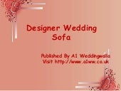 Designer Wedding Sofa & Couches for Hire – A1 Weddingwalla
