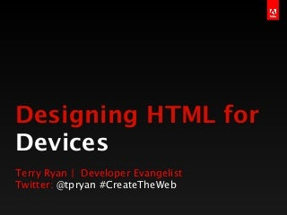 HTML Design for Devices
