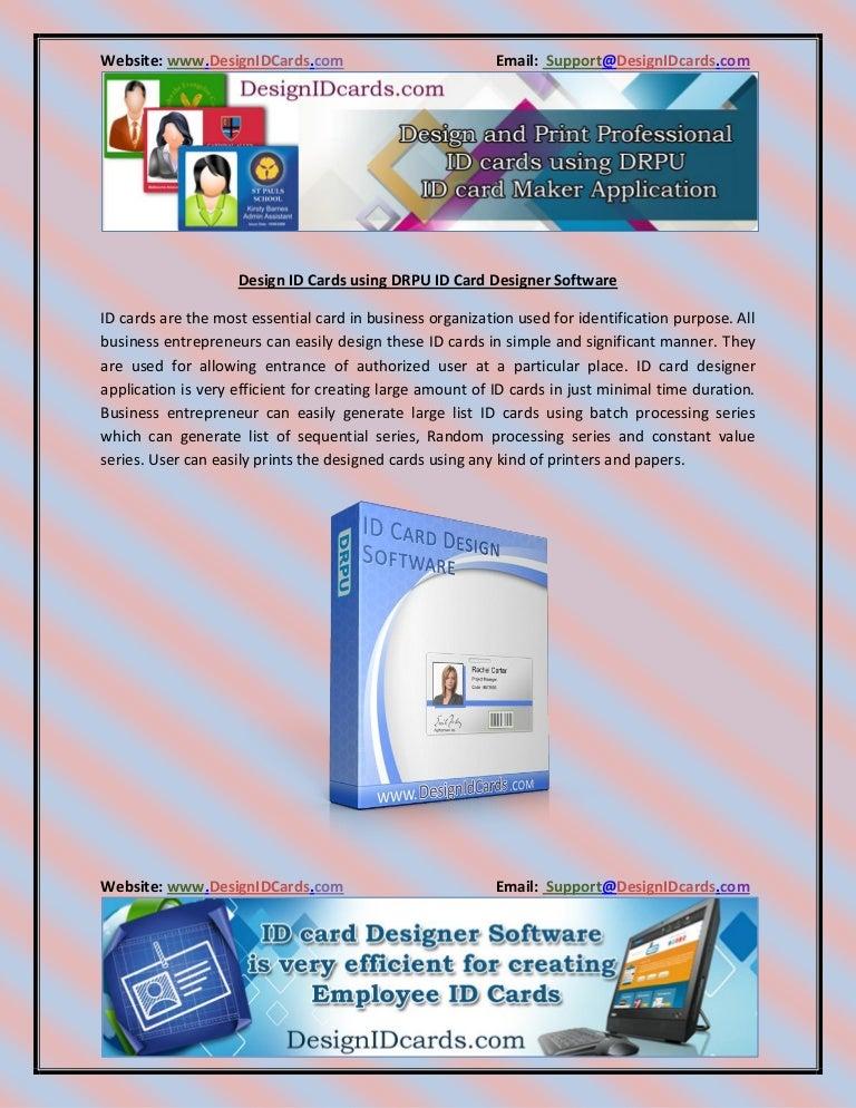 Design Id Cards Using Drpu Id Card Designer Software