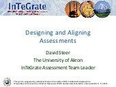 Designing and Aligning Assessments