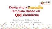 Designing a Moodle Template Based on Quality Matters Standards