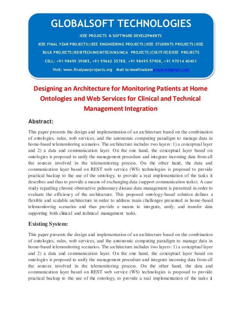 Ieee 2014 Java Service Computing Projects Designing An Architecture F