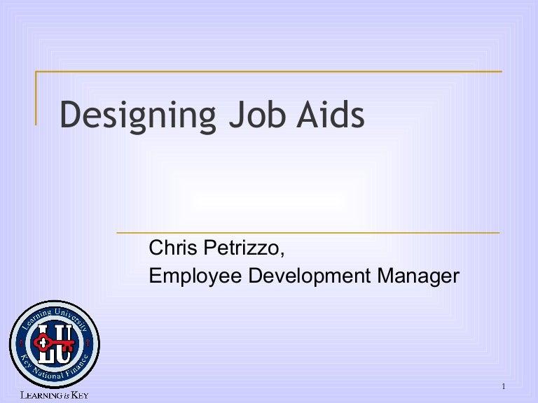 Designing job aids for Job aids template