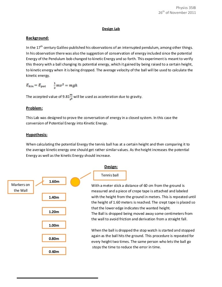 How to write a scientific lab report high school for How to plan and design an experiment