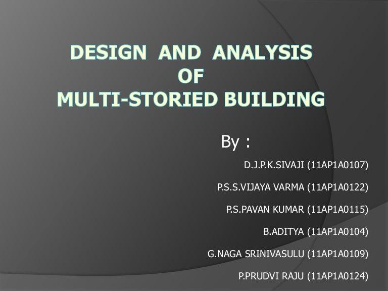 Design Of Multistorey Building