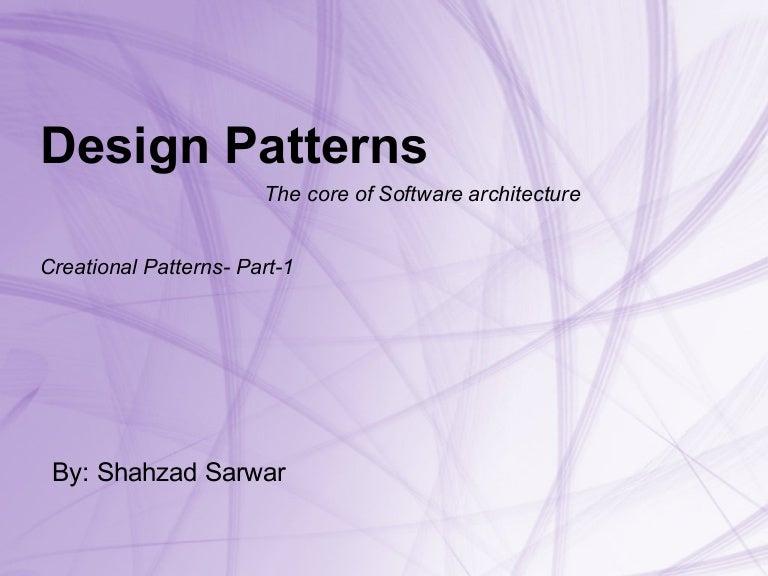 Architecture Design Patterns modren architecture design patterns with bold lines to ideas