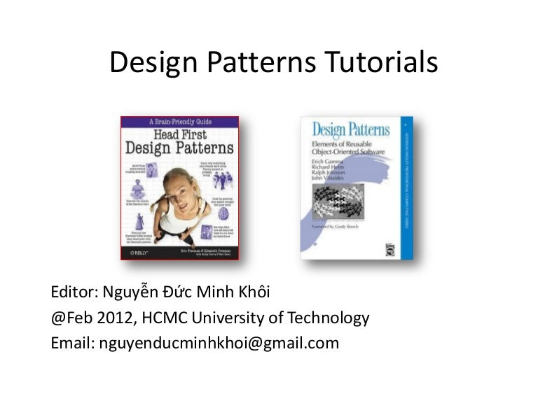 Design Patterns Tutorials Classy Design Patterns Tutorial