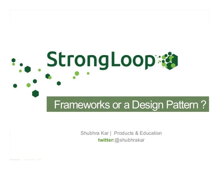 Node js Frameworks & Design Patterns Webinar