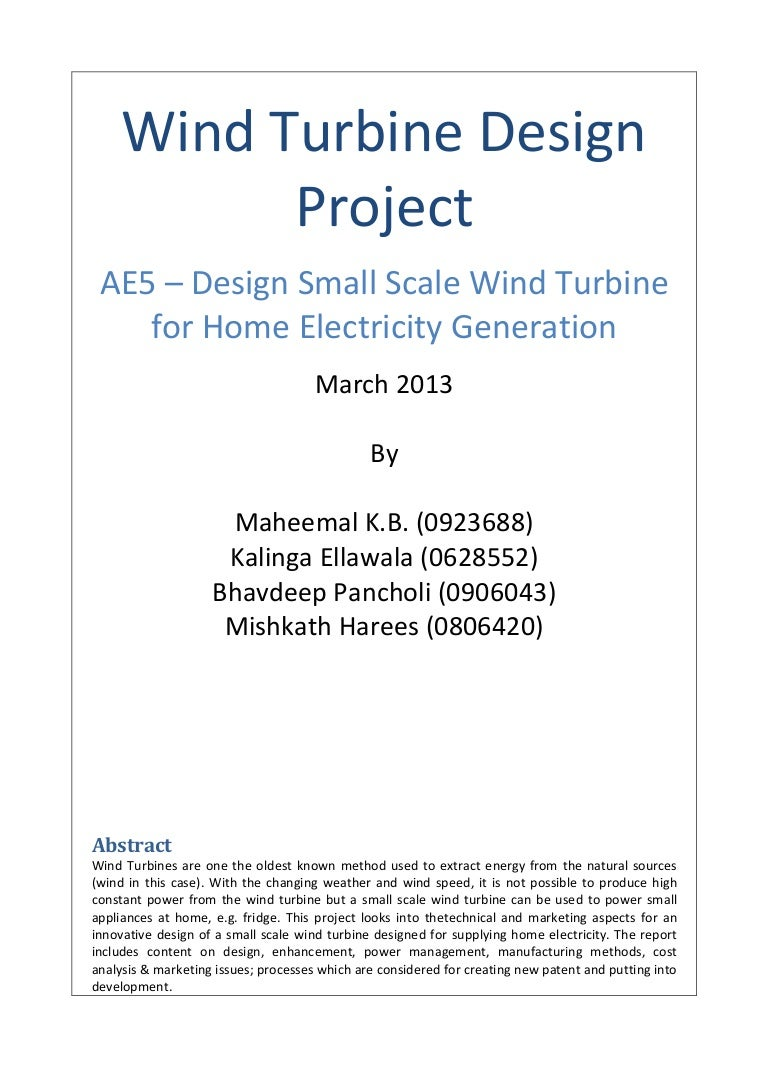 Design Small Scale Wind Turbine For Home Electricity Generation Generator Wiring Basics