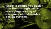 Design systems: accounting for quality and scalability