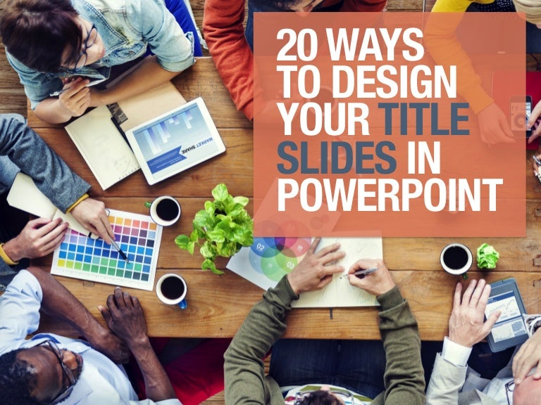 20 designs for title slides in powerpoint
