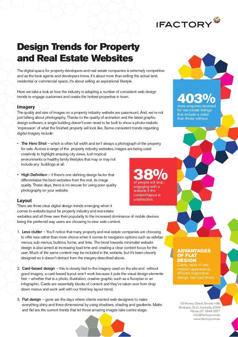 2017 Design trends for property and real estate websites