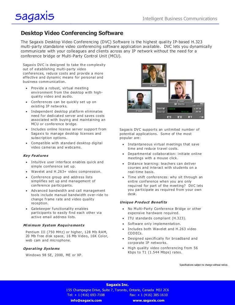 Desktop Video Conferencing Software